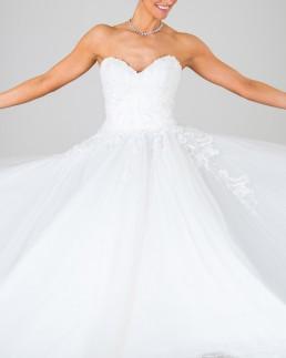 Princess Grace wedding dress front