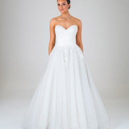 Princess Grace wedding dress front