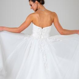 Princess Grace wedding dress back