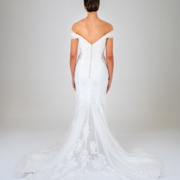 Rose wedding dress back