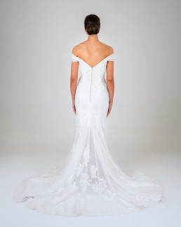 Rose wedding dress back