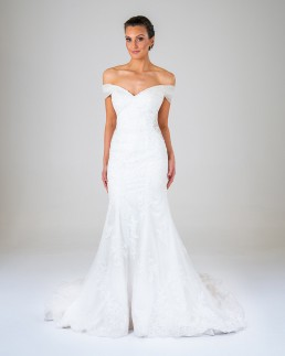 Rose wedding dress front