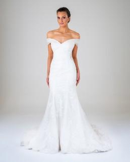 Rose wedding dress front
