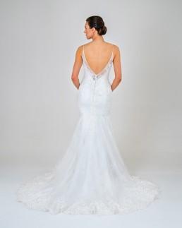 Samantha wedding dress back