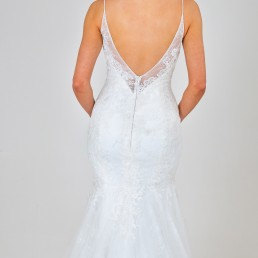 Samantha wedding dress back