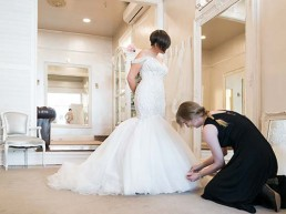custom wedding dress fitting